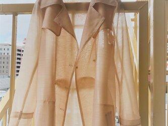 シアーを着る、トレンチコート LUU ベージュの画像