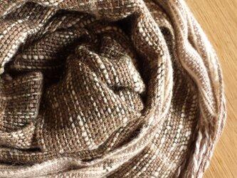 【手織り】コットン×カシミヤストールの画像