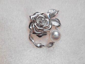 あこや真珠タックピン バラの画像