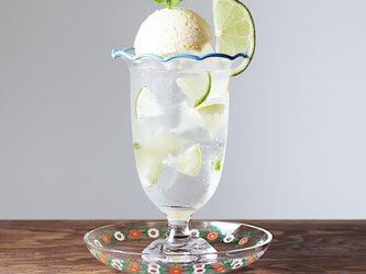 Frill-クリームソーダグラス(ペールブルー)の画像