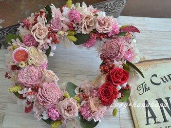 【母の日2020】赤バラのthanks*wreathの画像