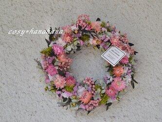 【母の日2020】ピンクな花冠wreathの画像