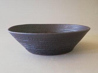鉄釉中鉢の画像