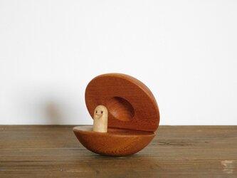 けやきのカスタネット 木のおもちゃの画像