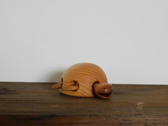 お風呂で遊べる 木のおもちゃ かめ①の画像