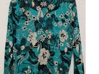 花柄グリーン長袖の画像