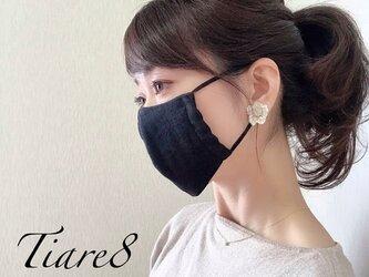 【やや小さめ】敏感肌にも優しいマシュマロタッチのダブルガーゼ黒マスクの画像