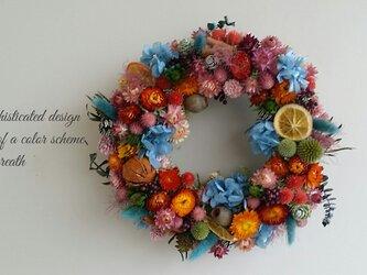 お花畑からの贈り物 ふんわりリース♬の画像