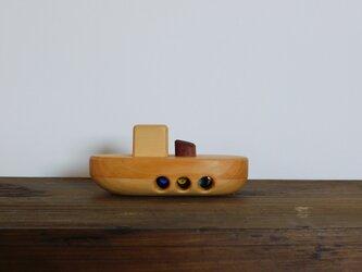 お風呂で遊べる 木のおもちゃ タグボートの画像