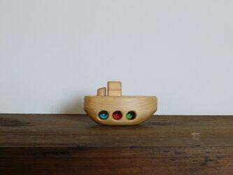 お風呂で遊べる 木のおもちゃ 小舟の画像