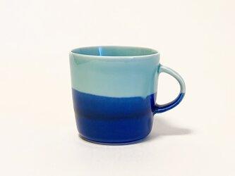 Mug cup M / 辰砂×ラピスラズリの画像