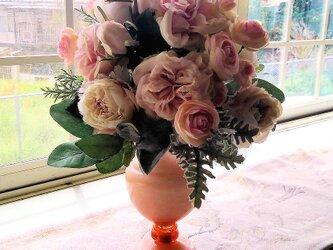 優しいピンク系のブーケ(花束)の画像