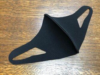 立体マスク 水洗いできるウエットスーツ素材の立体マスク 厚み2mm 繰り返し使える 洗えるマスク Lサイズ ブラックの画像