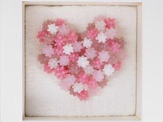 こんぺいとうアート ハート ピンクの画像