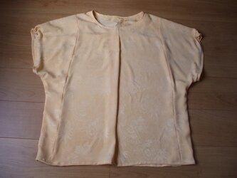 アンティーク羽織から春色ブラウス 絹の画像