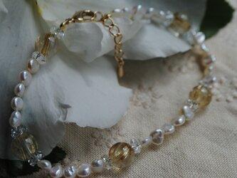 カモミールの蜜色ブレスレットの画像