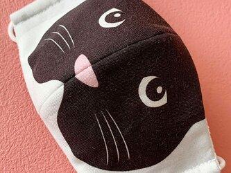 ちょっとだけ…なりきり猫顔 柄マスク(幼児・こども用)の画像