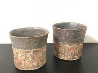 焼締「纏」フリーカップ(Maru) (蕎麦猪口)の画像
