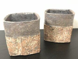 焼締「纏」フリーカップ(Kaku) (蕎麦猪口)の画像