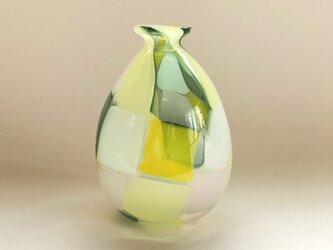モザイクガラスの一輪挿し greenの画像