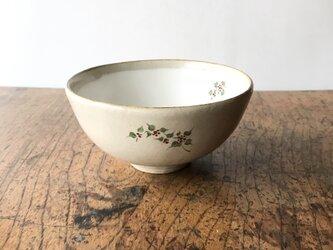 白化粧色絵 碗 サンキライの画像