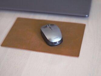 【受注制作】蝋引きレザーのリバーシブル・デスクパッドの画像