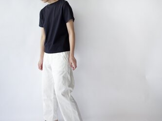 pablo cotton/center back tshirt / navy/size1・2の画像
