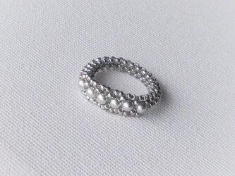 Crystal Anteque Ring / シルバーの画像