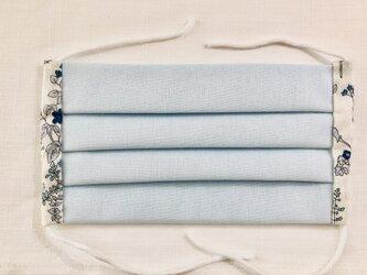 綿 ガーゼ プリーツマスク(ゴム付き)の画像