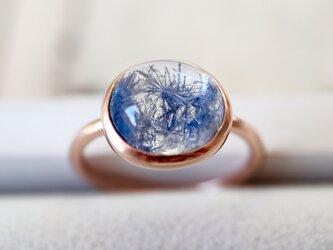 K10[深海庭園デュモルチェライトinクォーツ] ringの画像