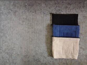リネンポーチ(ブルー)の画像
