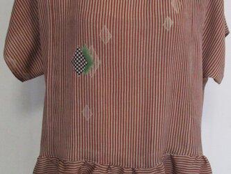 4826 着物で作ったプルーオーバー #送料無料の画像