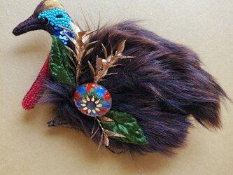 IRODORI AZ brooch(ヒクイドリ)の画像