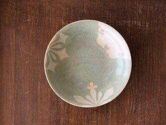 釉彩雪紋深皿 緑の画像
