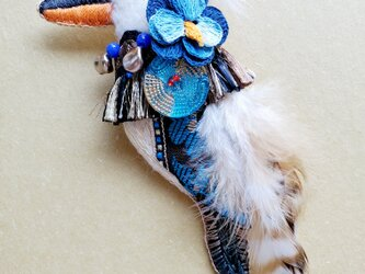 IRODORI AZ brooch(ワライカワセミ)の画像