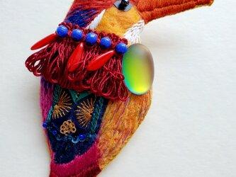 IRODORI AZ brooch(アカショウビン)の画像