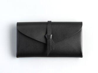 折りロングウォレット マグ#黒 [3ポケットver]の画像