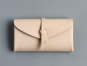 折りロングウォレット マグ#ベージュ [3ポケットver]の画像