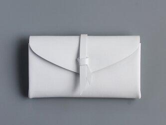 折りロングウォレット マグ#白 [3ポケットver]の画像
