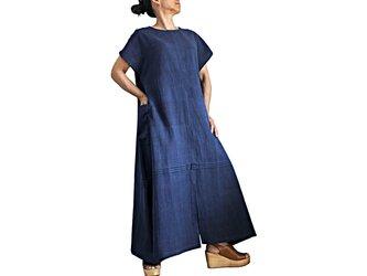 ジョムトン手織り綿寛ぎのドレス(DFS-063-03)の画像