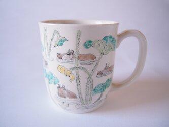 マグカップ カバの群れの画像