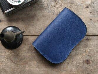 藍染革[shiboai] 二つ折り財布の画像