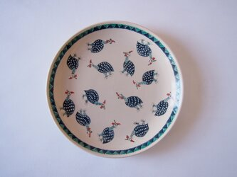 6寸皿(ホロホロチョウ)の画像