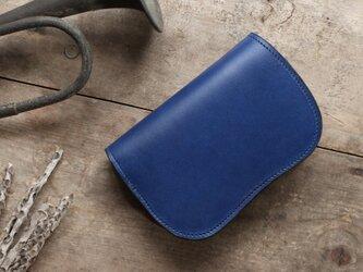 藍染革[migaki] 二つ折り財布の画像