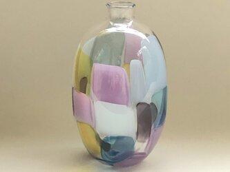 モザイクガラスの一輪挿し purpleの画像