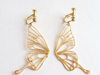 Butterfly(L) フックイヤリング / イエローゴールドの画像