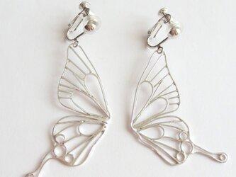 Butterfly(L) フックイヤリング / シルバーカラーの画像