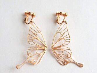 Butterfly(L) フックイヤリング / ピンクゴールドの画像