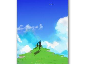 「スッキリしたーい!!」 ほっこり癒しのイラストポストカード2枚組 No.1044の画像