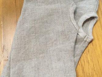 リネンの日除け手袋…ショート丈M…メルシー ピンクビーズの画像